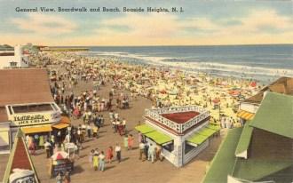 General View, Boardwalk and Beach, Seaside Heights, NJ