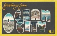 Greetings from Ocean City, NJ, postmarked July 17, 1951