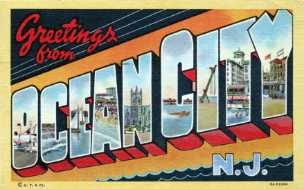 Greetings from Ocean City, NJ, postmarked Sept. 4, 1955