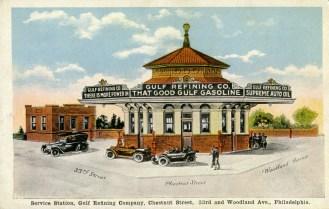 Gulf Service Station, Chestnut St., 33rd. and Woodland Ave., Philadelphia, PA