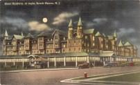 Hotel Baldwin at Night, Beach Haven, NJ 1948