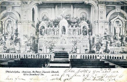Interior, St. Peter's Church, Philadelphia, PA 1906