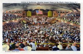 Interior of Auditorium, showing Largest Organ in the World, Ocean Grove, NJ