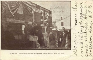 Laying the Cornerstone of Moorestown High School, Moorestown, NJ
