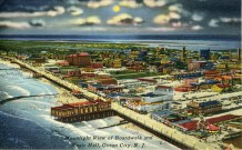 Moonlight View of Boardwalk and Music Hall, Ocean City, NJ 1955