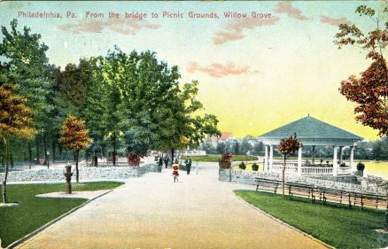 Philadelphia, PA from the bridge to Picnic Grounds, Willow Grove 1908
