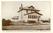 Residence and Garage of John Kienzle, 88th St,, Stone Harbor, NJ