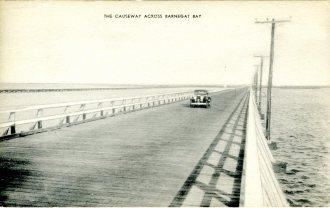 The Causeway Across Barnegat Bay 1943
