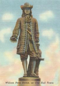William Penn statue on City Hall Tower