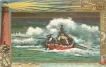 1909 Life Boat in the Breakers