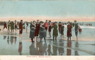 Beach Scene, Atlantic City, NJ 1908