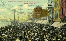 Boardwalk, Traymore, and Million Dollar Pier, Atlantic City, NJ 1912
