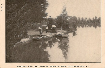 Boating and Lake View in Knight's Park, Collingswood, NJ