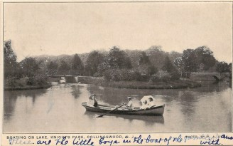 Boating on Lake, Knight's Park, Collingswood, NJ
