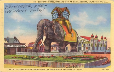 Elephant Hotel, Margate City, An Old Landmark, Atlantic City, NJ 1944