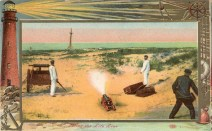 Firing the Life Line 1909