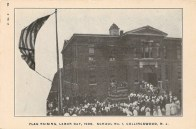 Flag Raising, Labor Day, 1906. School No. 1, Collingswood, NJ