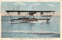 Hydroaeroplane Gliding Along the Beachfront, Atlantic City, NJ 1916