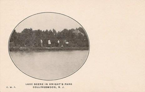 Lake Scene in Knight's Park, Collingswood, NJ