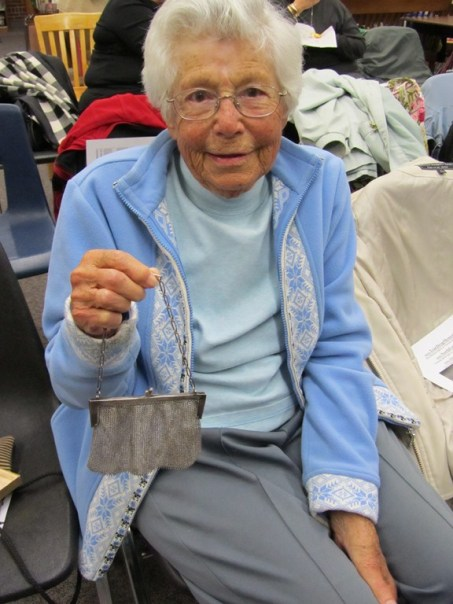 Mrs. Elsie Waters brought her grandmother's mesh purse