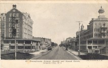 Pennsylvania Avenue, Seaside and Strand Hotels, Atlantic City, NJ 1907