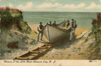 Return of the Life Boat at Atlantic City, NJ 1910