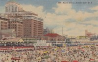 beach scene, Atlantic City, NJ