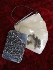 lady's chatelaine style engagement card holder