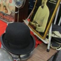 man's bowler hat
