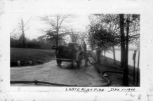 Lester Yearly at fire on Bank Ave Dec 1940