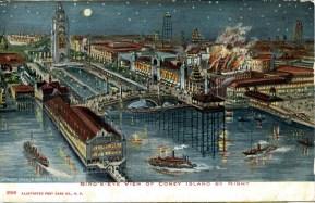 Bird's -Eye View of Coney Island by Night 1906