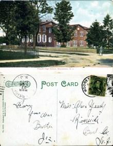 Friends High School, Moorestown, NJ 1908 - Litho Chrome Leipzig Berlin Dresden
