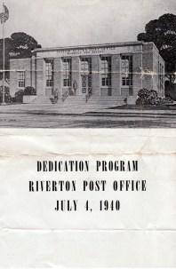 1940 July 4, dedication of Post Office booklet pg1