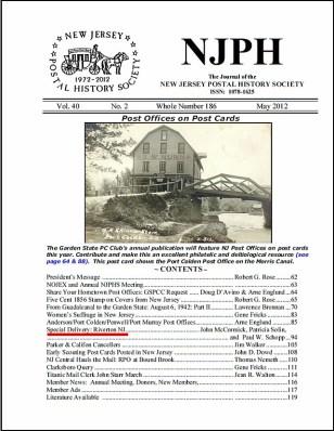 May 2012 – Historical Society of Riverton, NJ