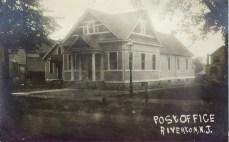 RPPC Riverton Post Office, 609 Main St. IMAGE COURTESY OF: Doug D'Avino of http://www.njpostalhistory.org