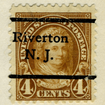 precancel Riverton Martha Washington 1923 issue-4c