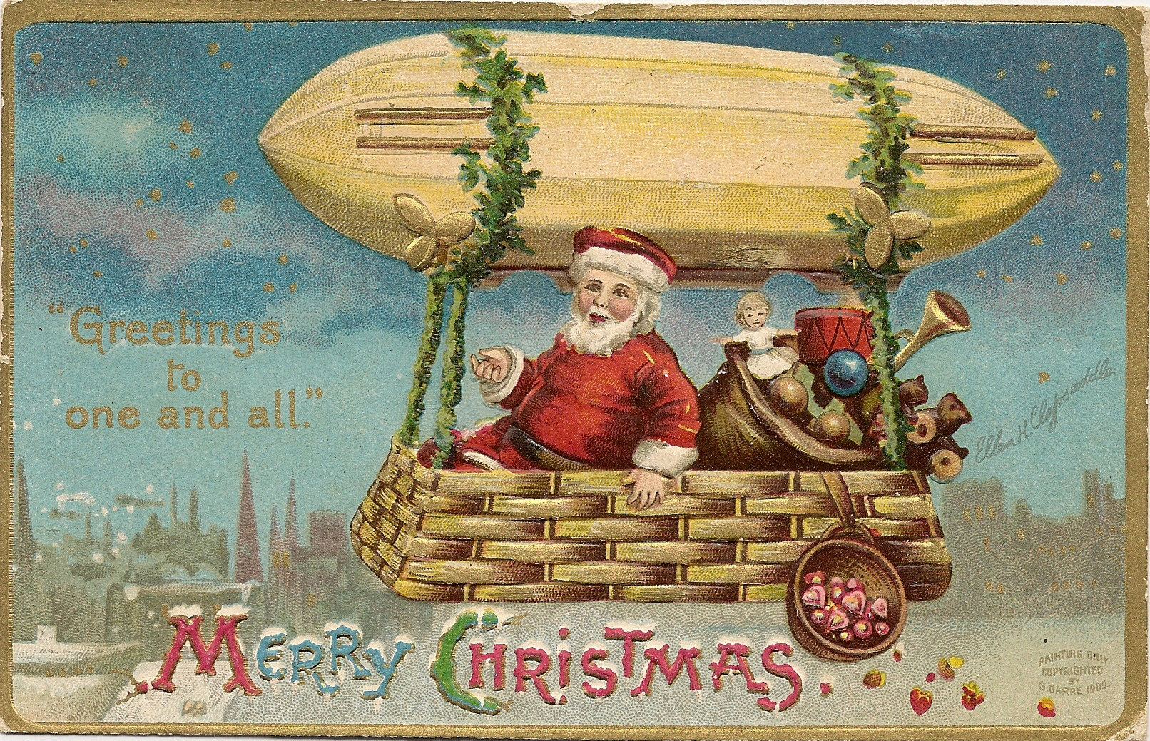 Aeronaut Santa Postcards Arrive Behind Schedule Cheery