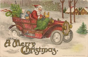 A Merry Christmas - vintage postcard by H.I. Robbins, Boston, 1907