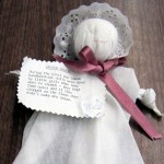 """church baby"" handkerchief doll"