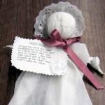 """church baby"" handkerchief doll"