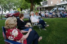 HSR members, Riverview residents, and the public brought folding chairs to outdoor concert venue