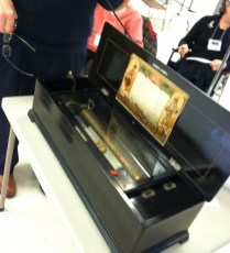 The music box is a family heirloom for Nancy Hall.
