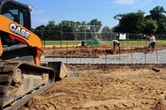 Grandstand construction 07-08-2013 02