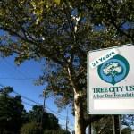 Tree City sign on Broad near Nat'l Casein