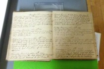 one of Capt. Hall's Civil War diary volumes