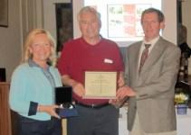 L-R, Mrs. Bea Horn, Dr. Michael Horn, Daniel Campbell
