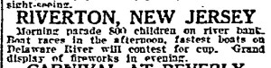 Riverton's Fourth as described in The Phila. Inquirer, July 4, 1914