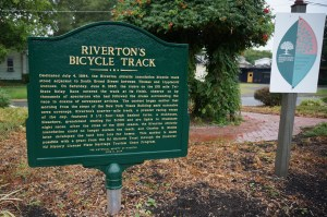 Riverton Bicycle Track sign, 8-1-2014