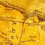 detail, Map of the Circuit of 10 Miles Around Philadelphia, 1847