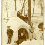 1896 Snow House - full view of original cabinet card.